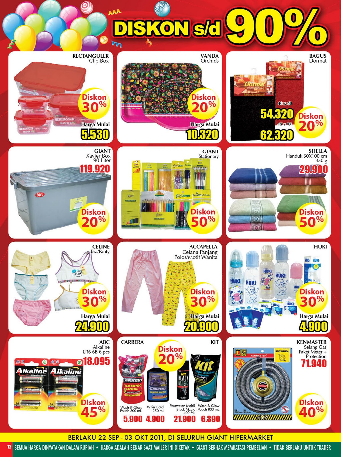 katalog harga giant supermarket bulan september 2011. Black Bedroom Furniture Sets. Home Design Ideas