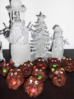 Chocolate Reindeer Cookies | www.happyhealthymotivated.com