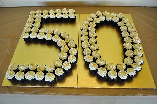 Birthday Cake Ideas With Cupcakes : Birthday Cake: 50th Birthday Cake