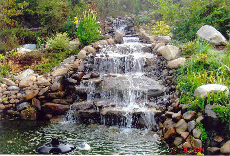 Los jardines del alma julio 2011 for Prefab waterfalls for ponds