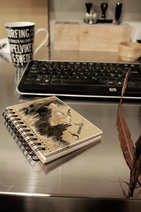 diy, personlig bok, målat omslag på bok, adressbok, diy bok