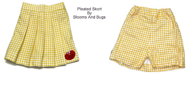 pleated skort sewing pattern