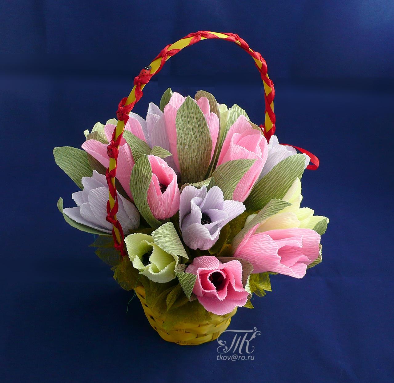 Как сделать цветы внутри с конфетами