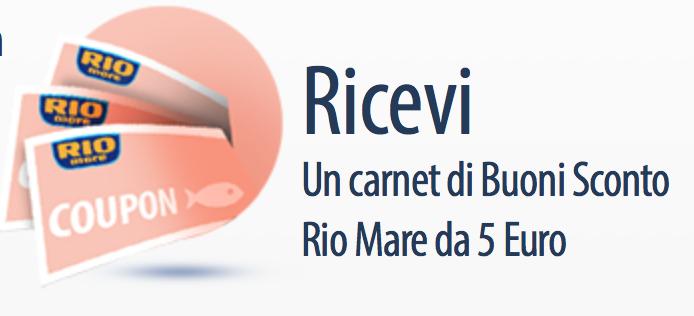 coupon stampabili tonno Rio Mare