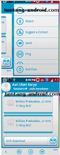 Cara merubah tulisan PING Di Blackberry mesenger android