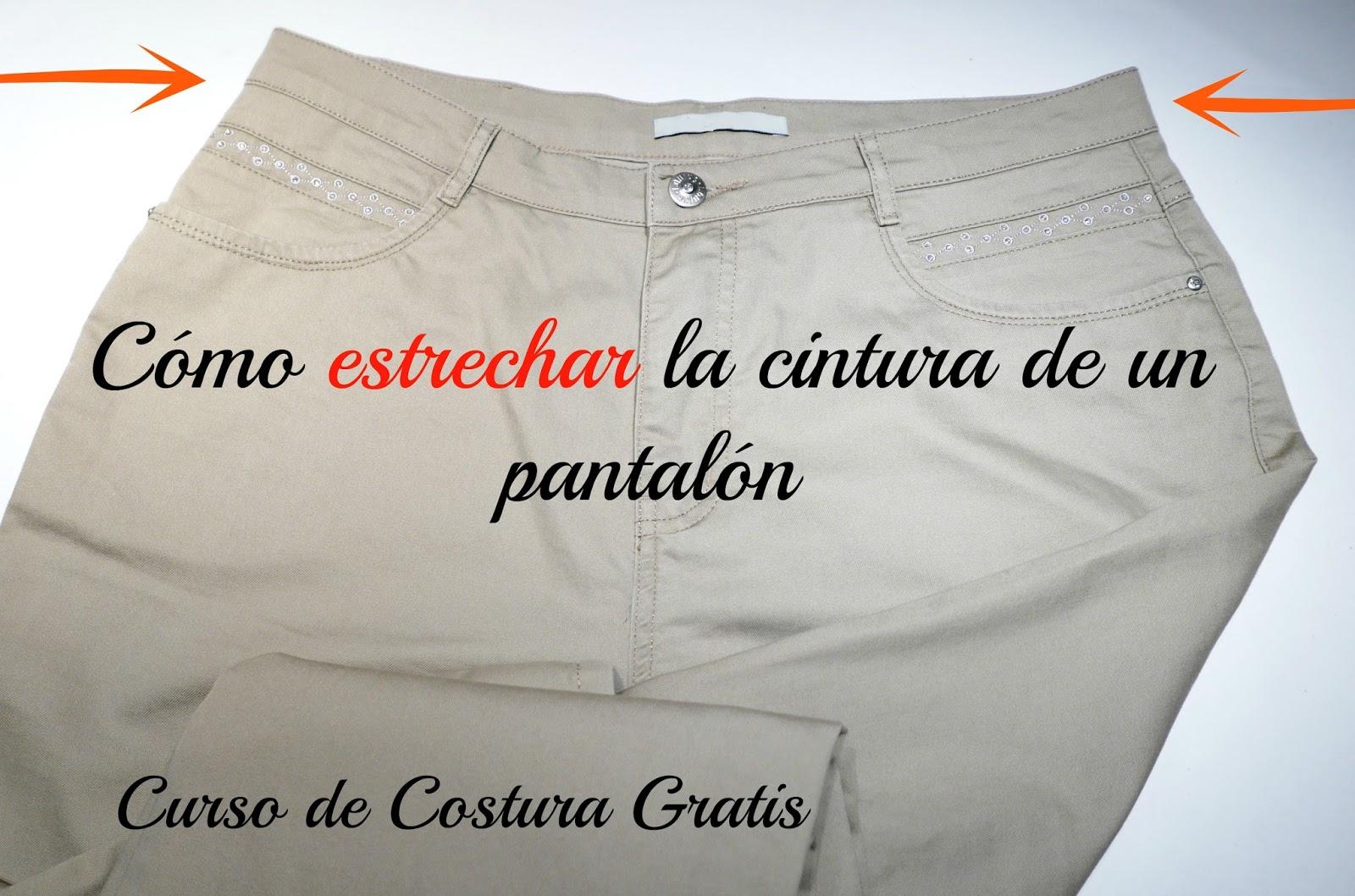 Curso de Costura Gratis: Cómo estrechar la cintura de un pantalón ...