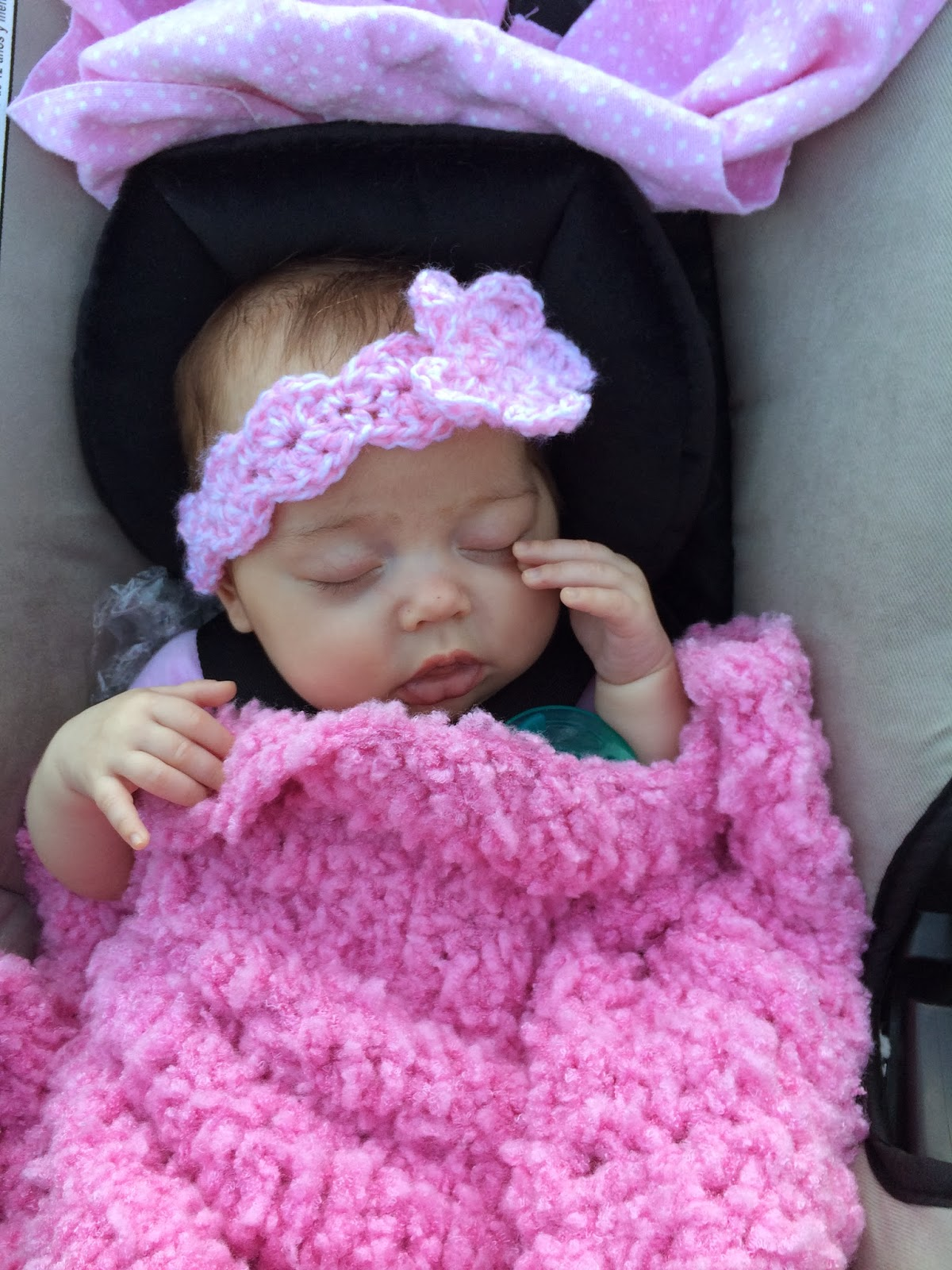 Free crochet patterns for baby headbands with flower dancox for not my nanas crochet crochet baby shells and flower bankloansurffo Image collections