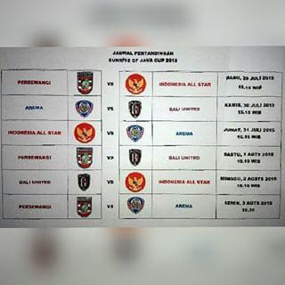 Jadwal Terbaru Sunrise of Java Cup 2015