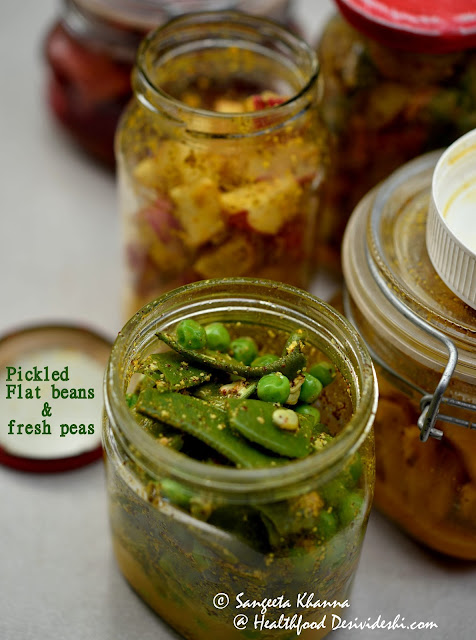 pickled flat beans