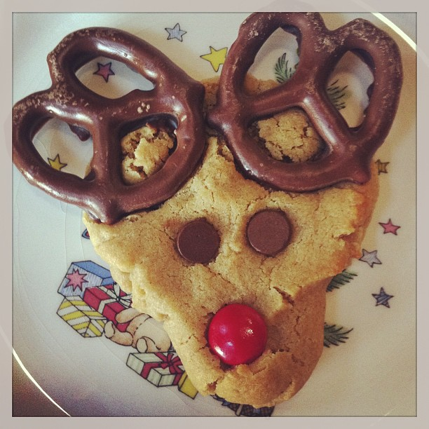 Simply Sweet Justice Peanut Butter Rudolph Cookies
