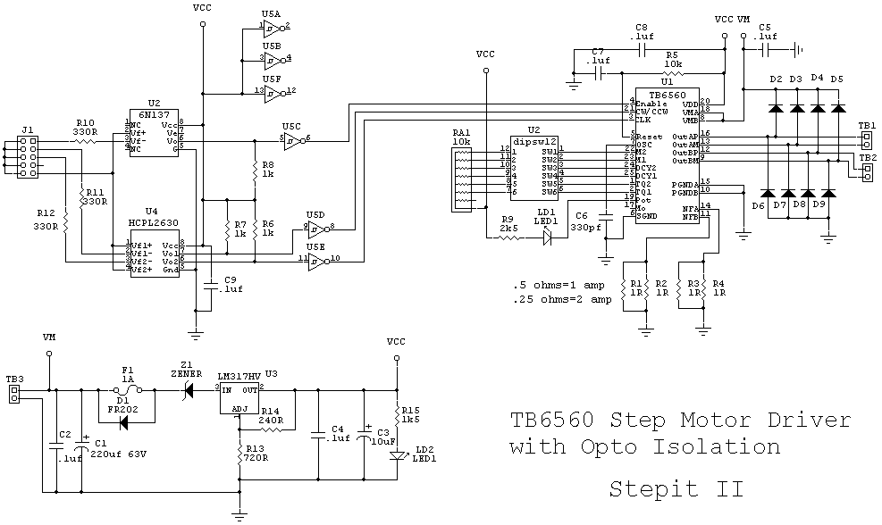 cncrouterbuild  steptb6560 step motor driver