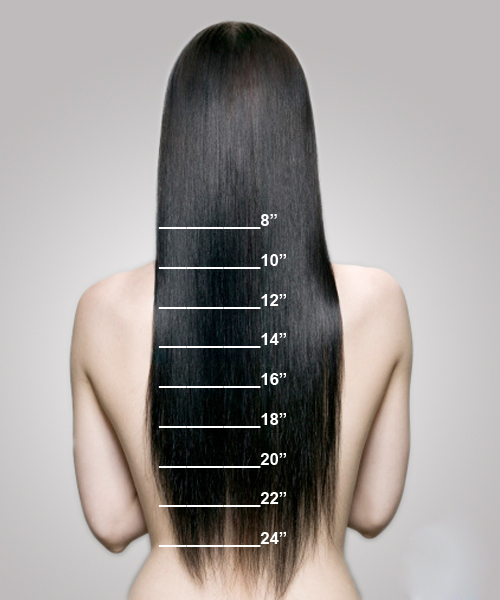 Remy Hair Extensions Length Chart 22
