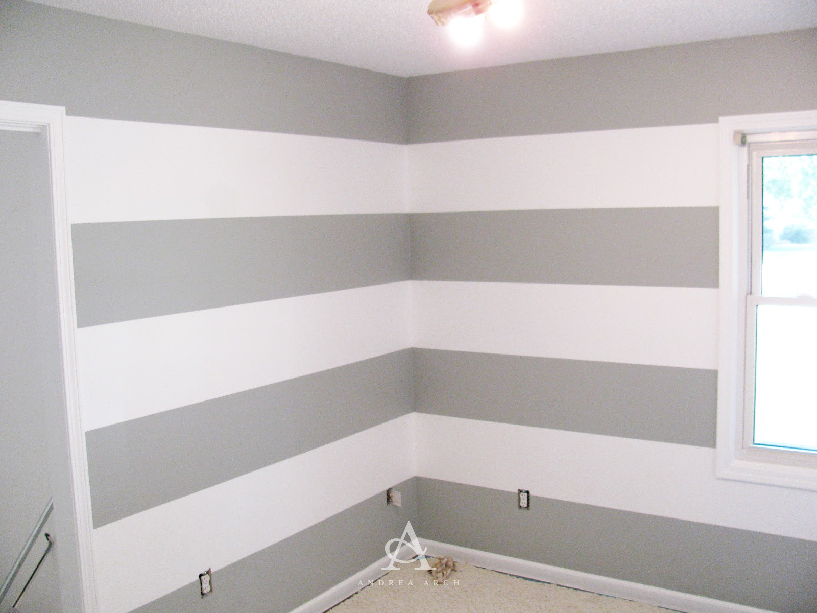 Andrea Arch DIY How to paint perfect wall stripes