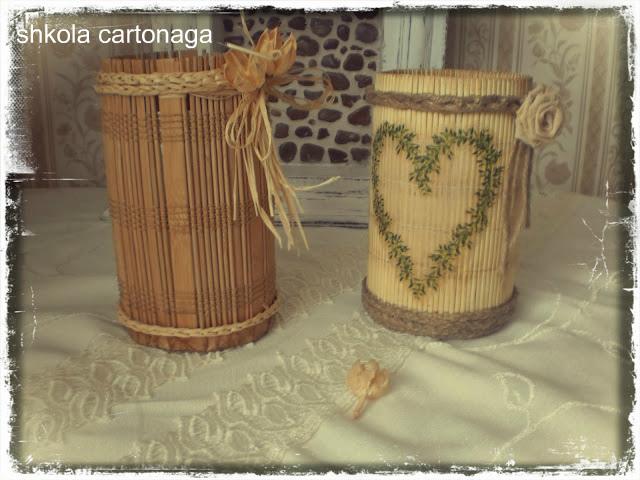 Поделки своими руками из бамбуковой салфетки 63