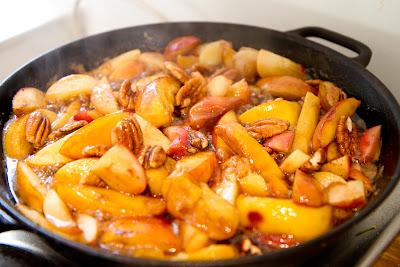 omenalohkoja ja pekaaneita