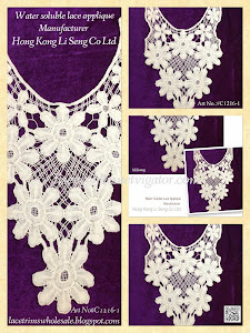 Water Soluble Lace Applique Manufacturer - Hong Kong Li Seng Co Ltd