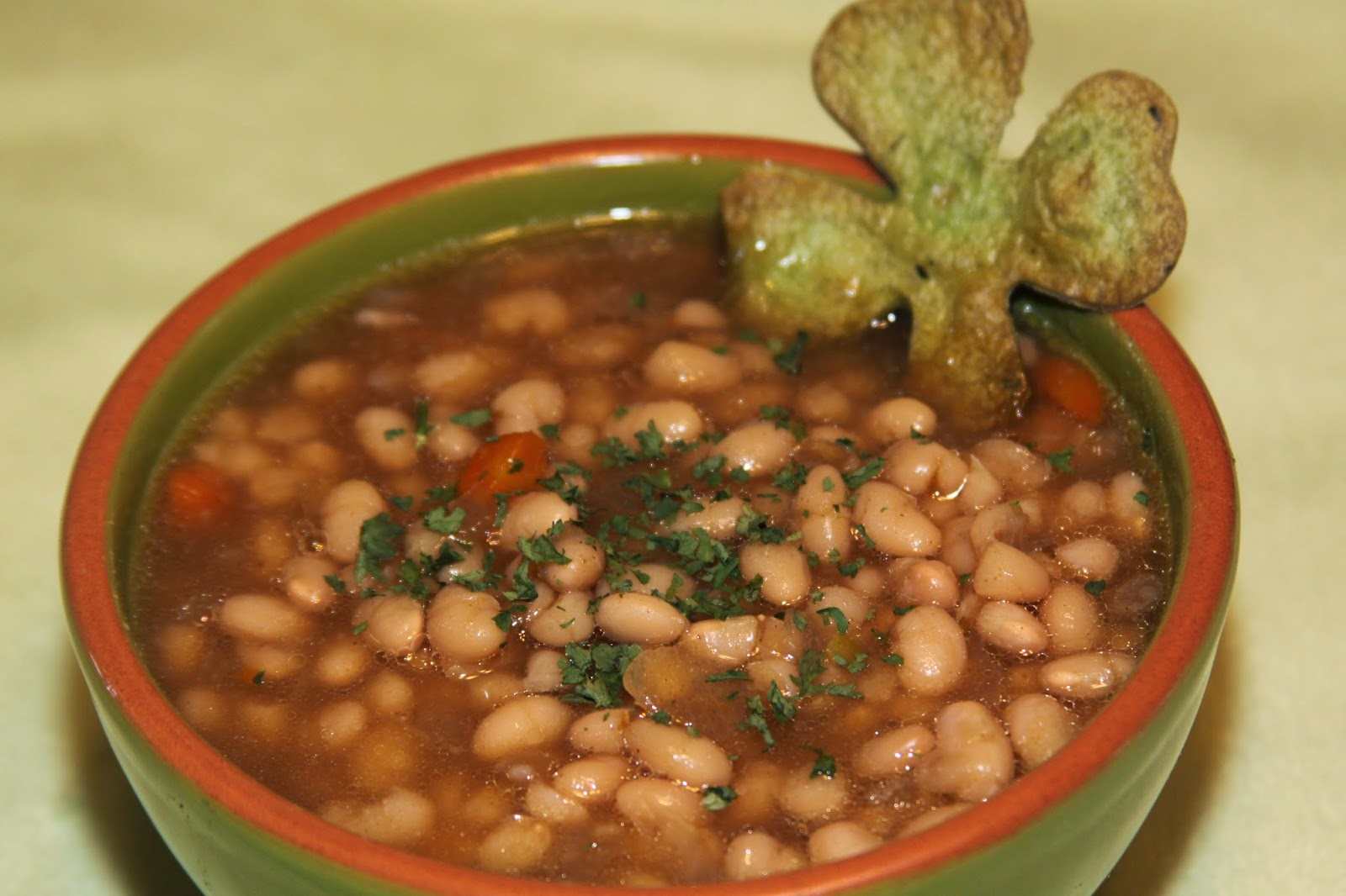 For the Love of Food: Senate Bean Soup with Shamrock Tortilla Dippers