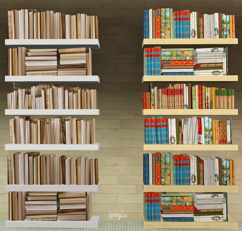 Lunas Deco Bookshelves Recolors By Lpvinyl21