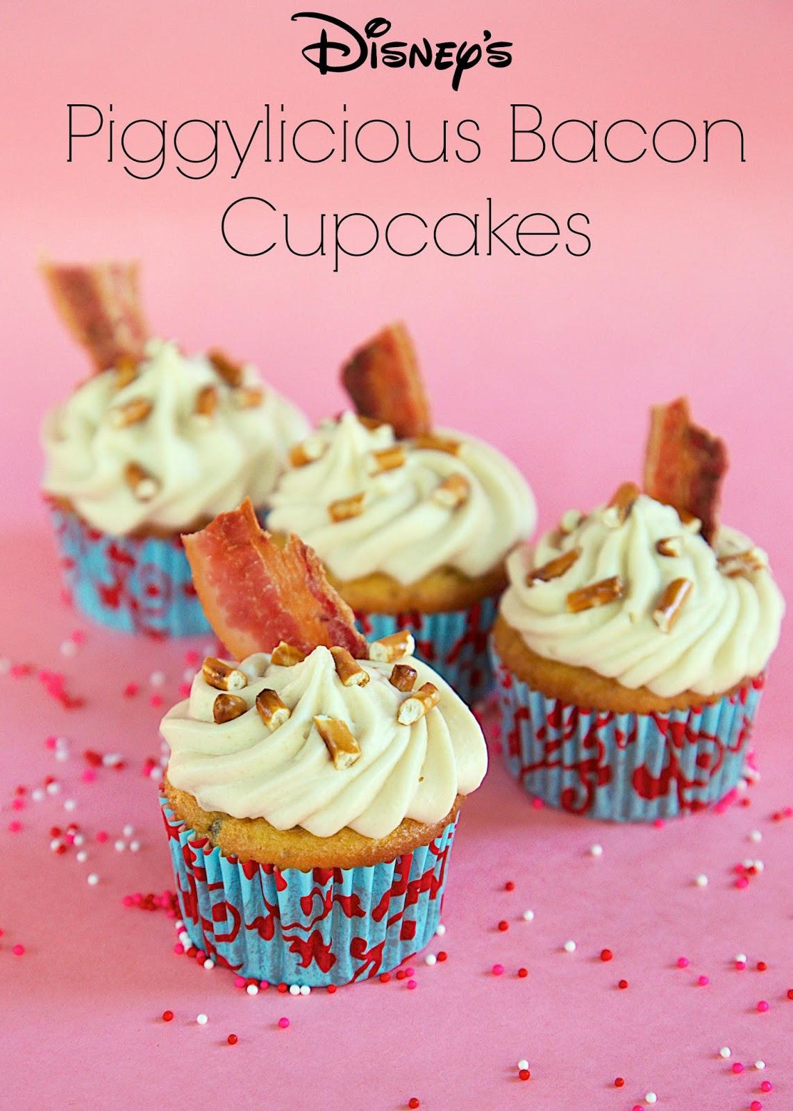 Disney's Piggylicious Bacon Cupcakes - Maple Bacon Cupcakes