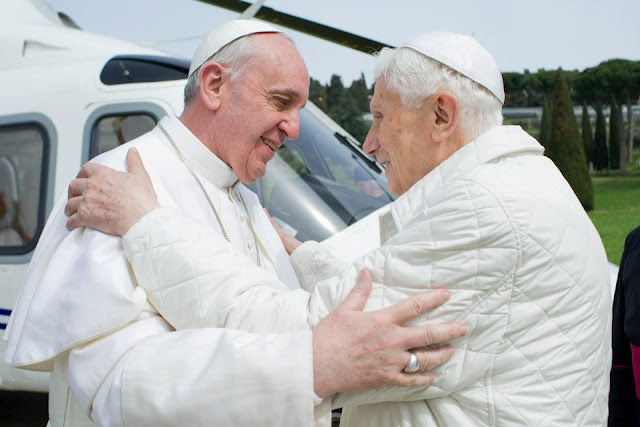 Two Popes Meet