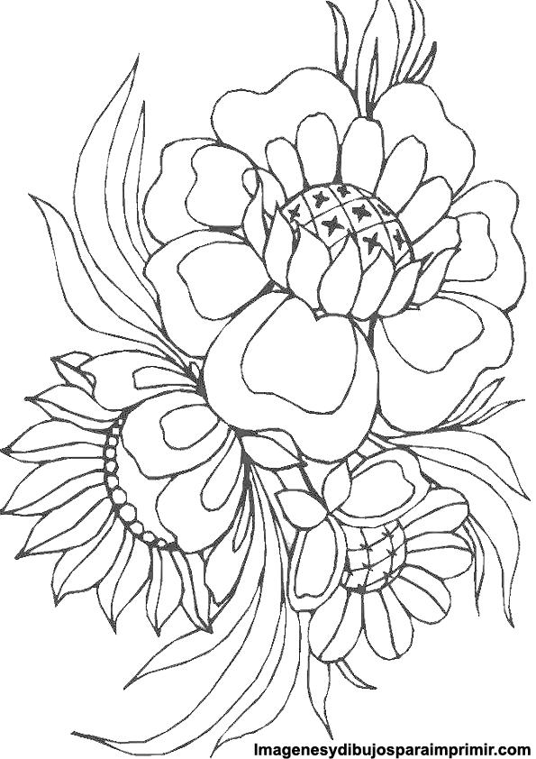 Bouquet picture coloring