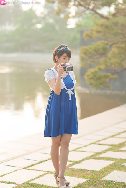 11 kim Ji Min in Blue-very cute asian girl-girlcute4u.blogspot.com