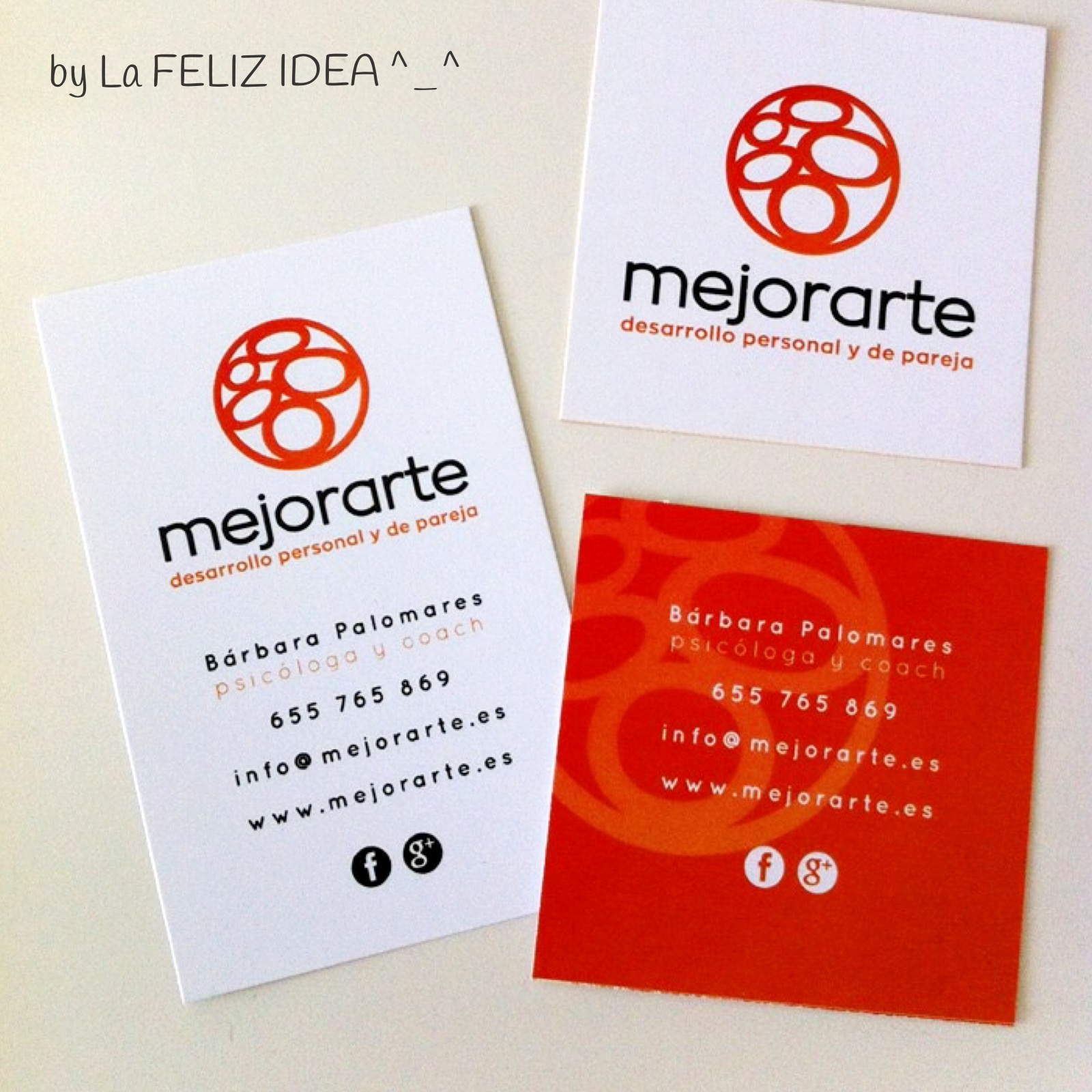 Pscologist bussines cards design / Diseño de tarjetas de visita para psicologa
