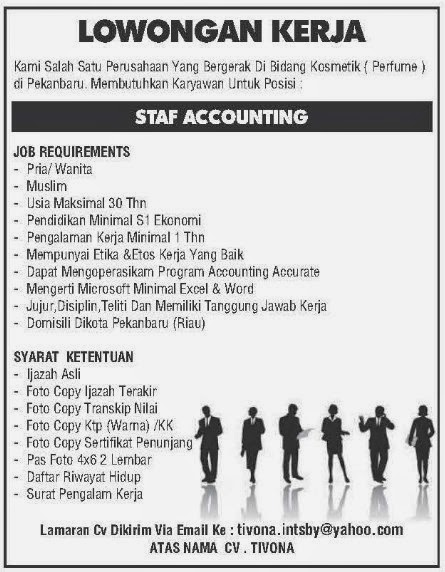 Lowongan CV. TIVONA