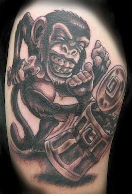 Tatuagem de Macaco