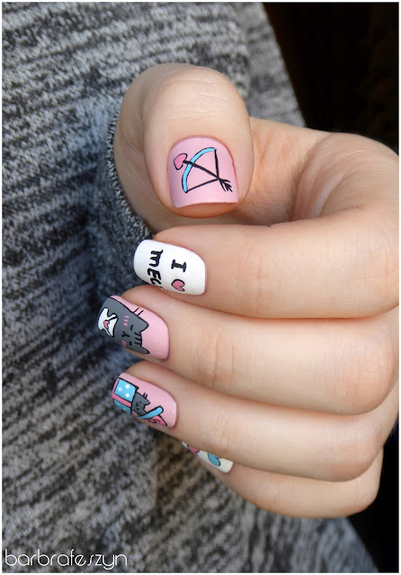 paznokcie walentynkowe