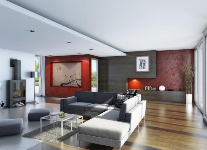 ide interior desain ruang keluarga mewah