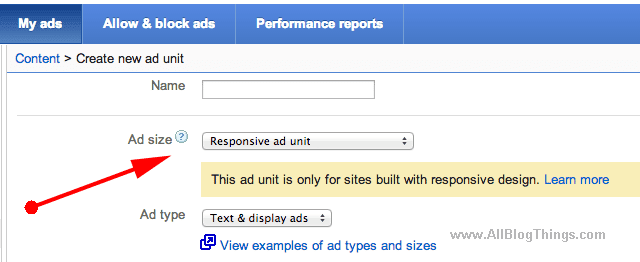 How To get Responsive adsense ads code - And use it.