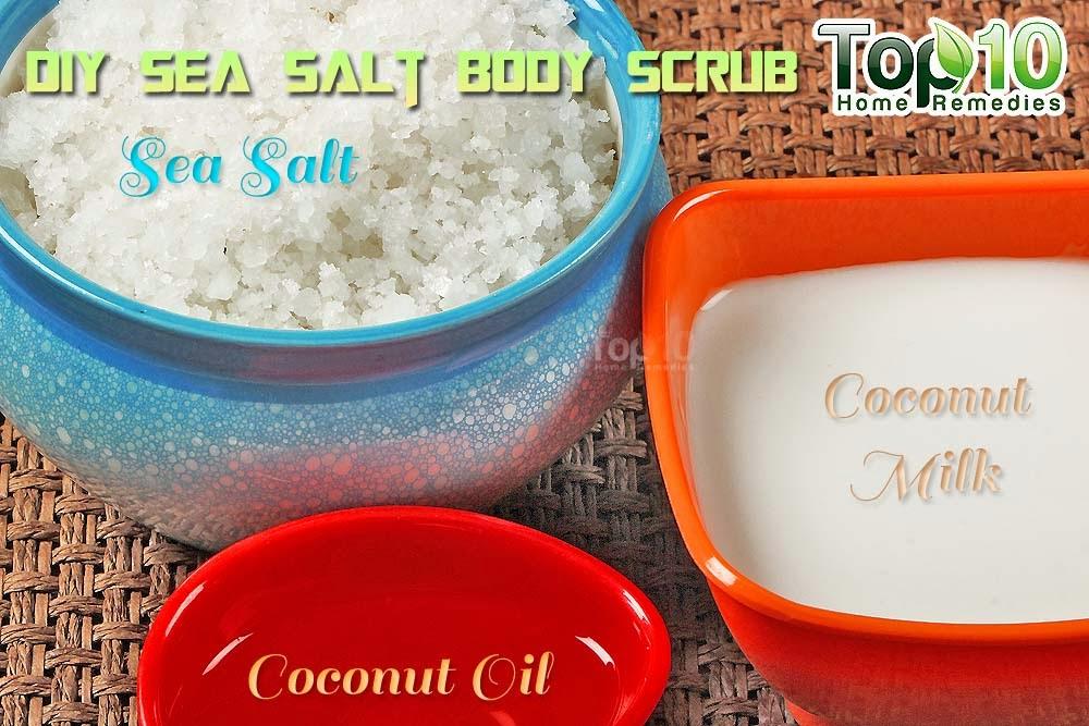 perawatan kulit scrub garam laut