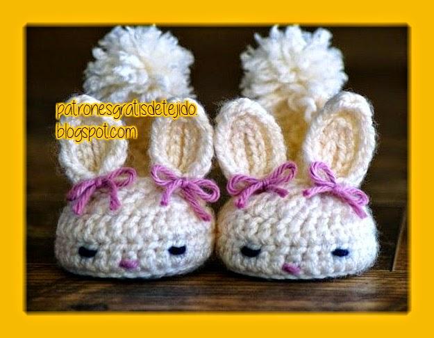 Escarpines conejitos al crochet