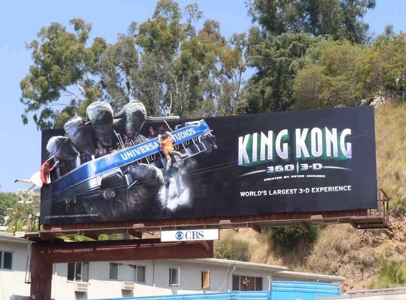 Universal Studios King Kong 3D billboard