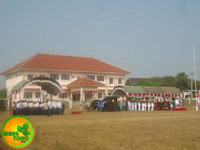 Pembina Upacara memasuki lapangan Upacara.