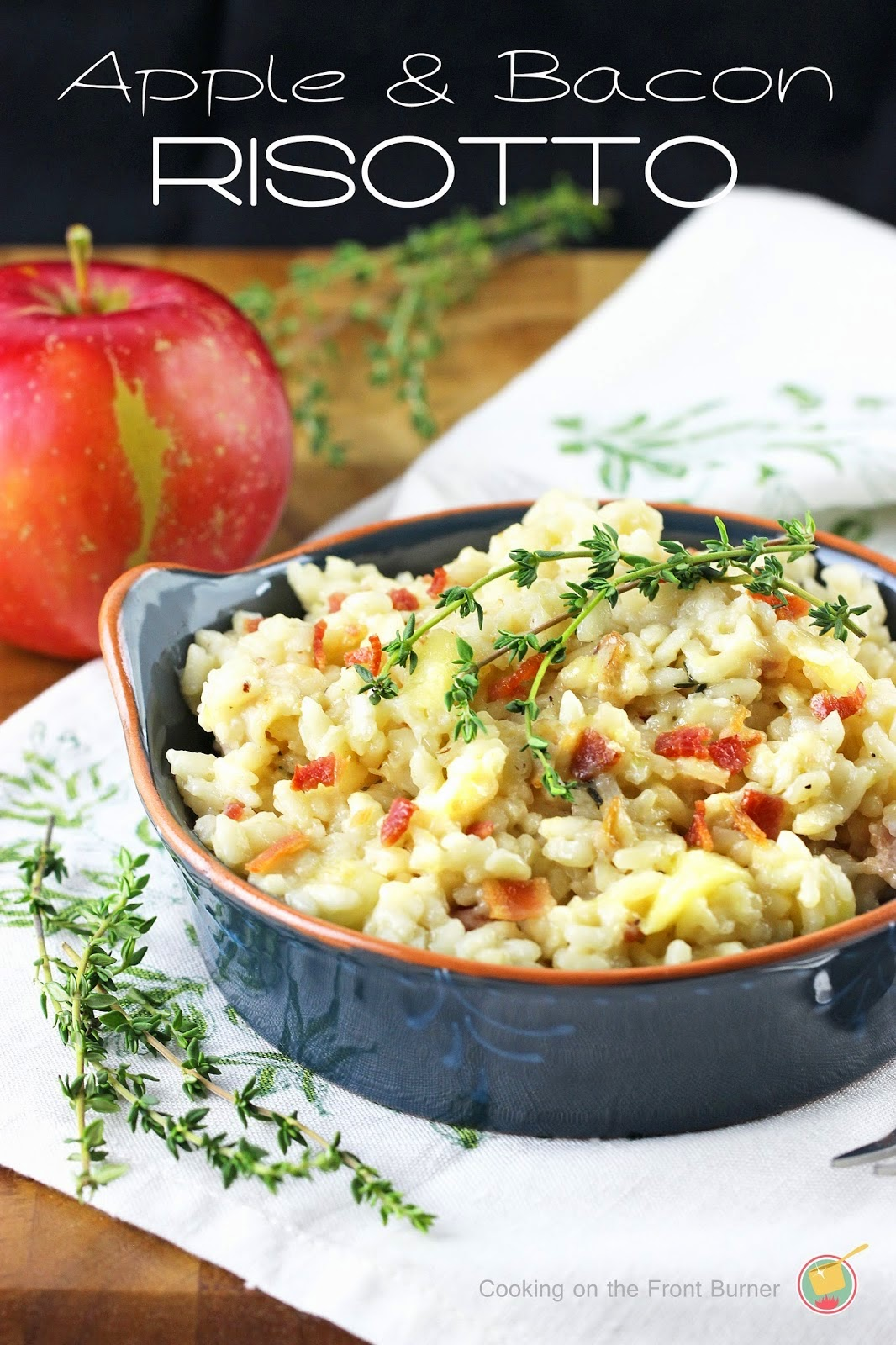 Apple Bacon and Thyme Risotto