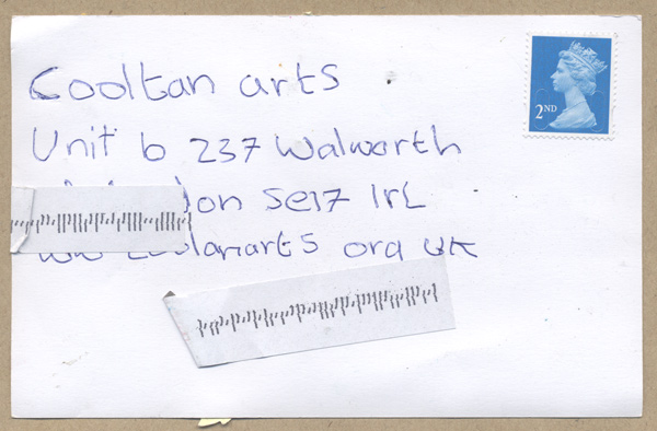 Jubayer Rahman's Postcard to the World - address side
