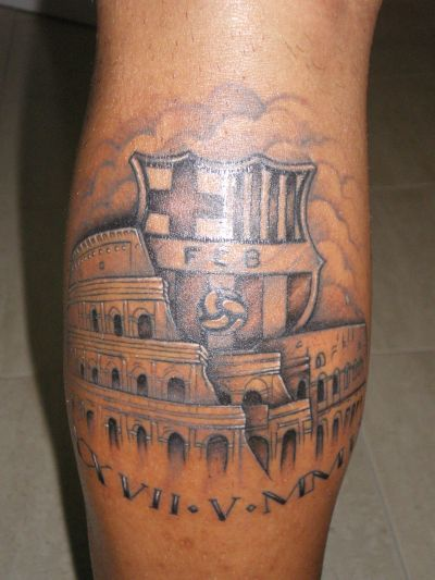 tatuaje de escudo de barcelona sporting club tattoo design bild. Black Bedroom Furniture Sets. Home Design Ideas