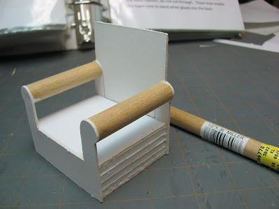 Dollhouse Miniature Furniture  Tutorials  1 inch minis CHAIR