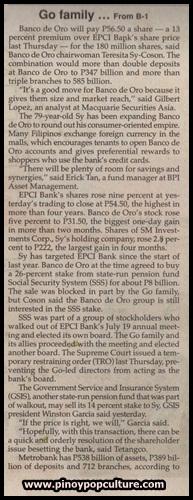 BDO Unibank, BDO, mergers, acquisitions, banks, Banco de Oro, Equitable PCI Bank