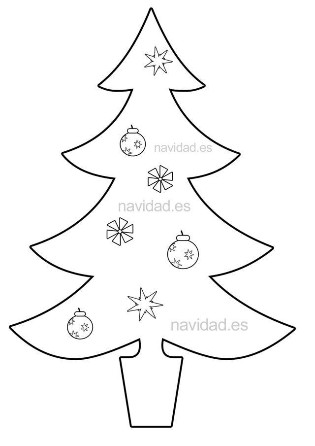 Arbol de navidad para colorea new calendar template site - Arboles de navidad ...