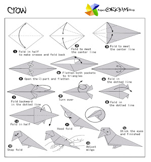crow origami