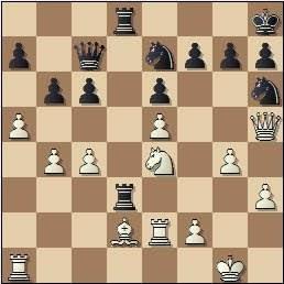 Partida de ajedrez Lupi - Rico, posición después de 27.Ad2!