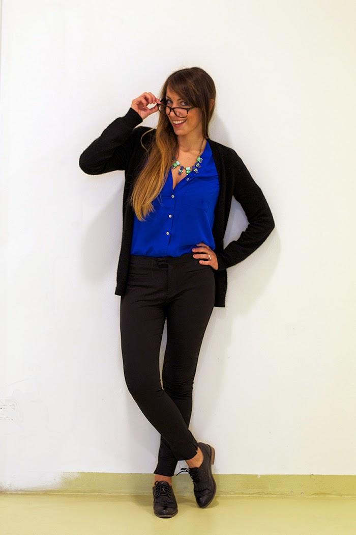 camicia blu elettrico