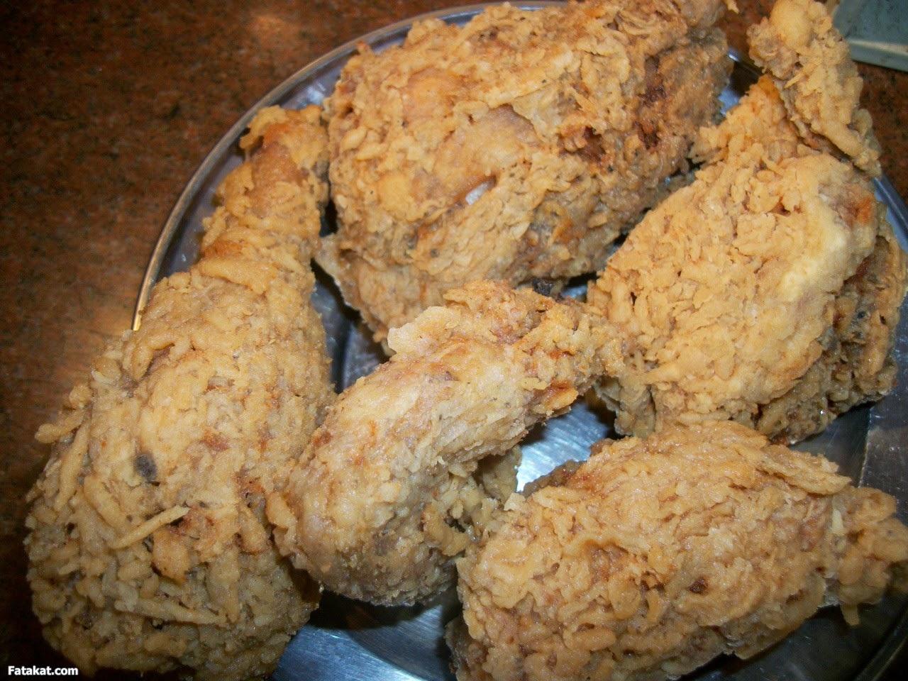 تتبيلة قطع دجاج كنتاكى المقرمشة // دجاج كنتاكى الحار المقرمش // طريقة عمل سلطة كنتاكي