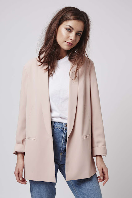 light pink blazer, pastel pink jacket topshop,