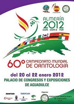 60º CAMPEONATO MUNDIAL DE ORNITOLOGIA EM ESPANHA ALMERIA 2012