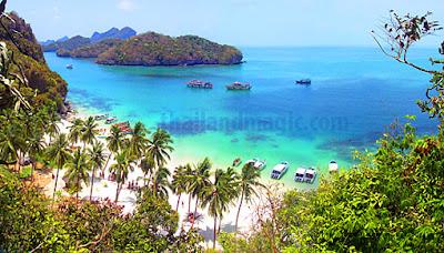 The Ang Thong Islands close to Koh Samui