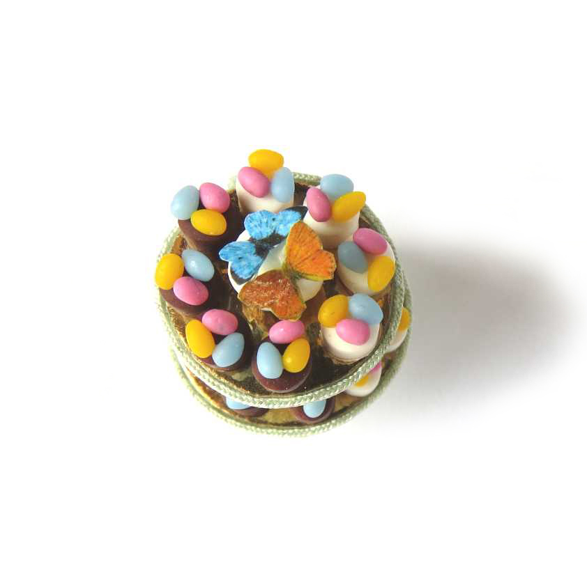 Easter sweets in miniature for dollhouse